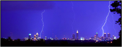 Lightning over Atlanta (photo by John Harvey).