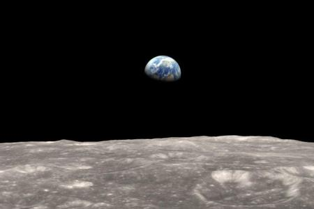 Earth-rise as seen from the moon NASA